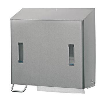 Afbeelding van Santral RVS Combi Handdoek-Zeepdispenser Links