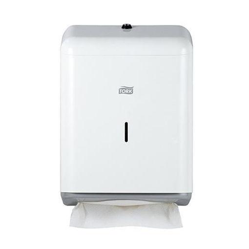 Tork H3 Handdoek C-vouw & Z-vouw Dispenser Metaal/Wit