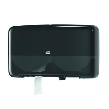 Afbeelding van Tork T2 Toiletpapier Mini Jumbo Duo Dispenser Zwart