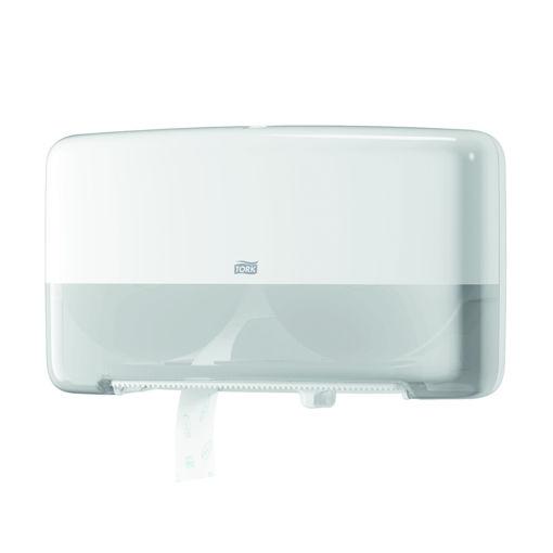 Afbeelding van Tork T2 Toiletpapier Mini Jumbo Duo Dispenser Wit