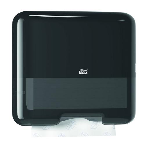 Tork H3 Handdoek C-vouw & Z-vouw Mini Dispenser Zwart