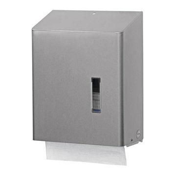 Santral Handdoek Z-vouw & C-vouw Dispenser RVS/Wit