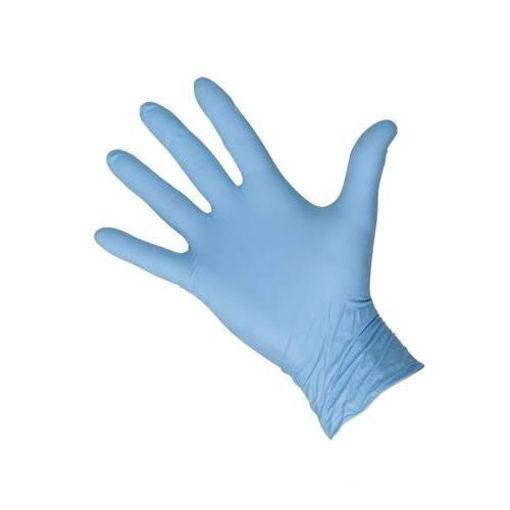 Afbeelding van Handschoen Latex Gepoederd maat M Blauw 100 stuks