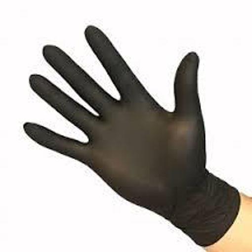 Afbeelding van Handschoen Nitril Ongepoederd maat L Zwart 100 stuks