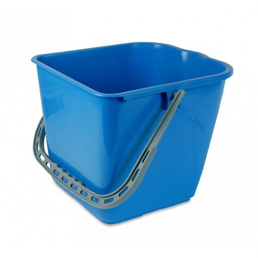 Afbeelding van Emmer voor Mopwagen 15 ltr Blauw