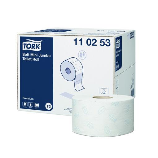 Afbeelding van Tork T2 Toiletpapier Mini Jumbo 2lgs Comfort 12x850 vel