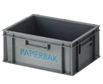 Papierbak Kunststof Open 21 ltr Grijs