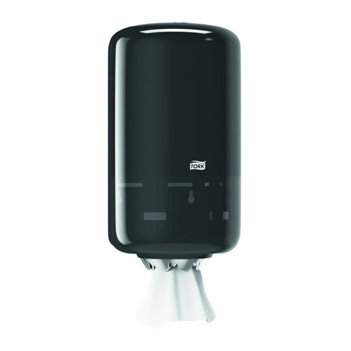 Tork M1 Poetsrol Dispenser Mini Zwart