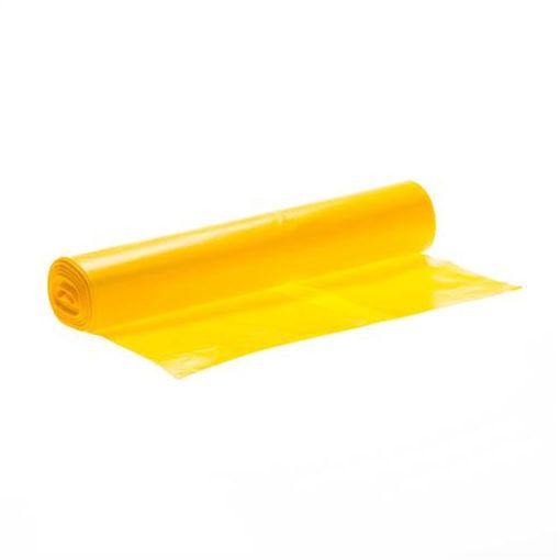 Afbeelding van Afvalzak LDPE 70x110 cm T50 Geel rol à 25 stuks