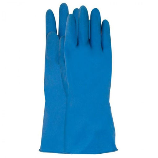 Afbeelding van Huishoudhandschoen Latex Blauw Maat L