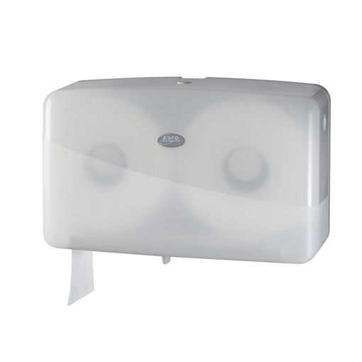 Pearl White Jumbo Duo Toiletrol Dispenser Mini