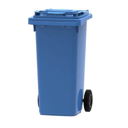 Afbeelding van Afvalcontainer Kunststof Klep 120 ltr Blauw