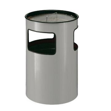 Afvalbak Aluminium Open 110 ltr Grijs met asbak