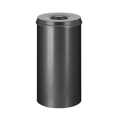 Afvalbak Metaal Open 50 ltr Zwart Vlamdovend