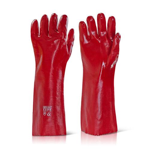 Afbeelding van Handschoen PVC Rood 45 cm
