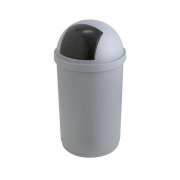 Afvalbak Kunststof Push 50 ltr Grijs