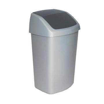 Afvalbak Kunststof Swing 50 ltr Grijs