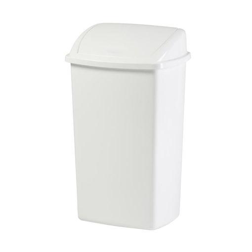 Afvalbak Kunststof Swing 50 ltr Wit