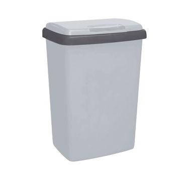 Afvalbak Kunststof Klep 25 ltr Grijs