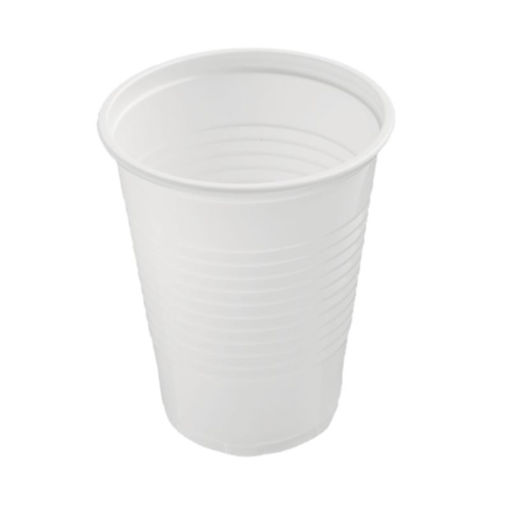 Beker Plastic 150 ml Wit 3000 stuks
