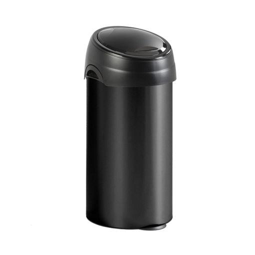 Afvalbak Metaal Touch 60 Ltr Zwart