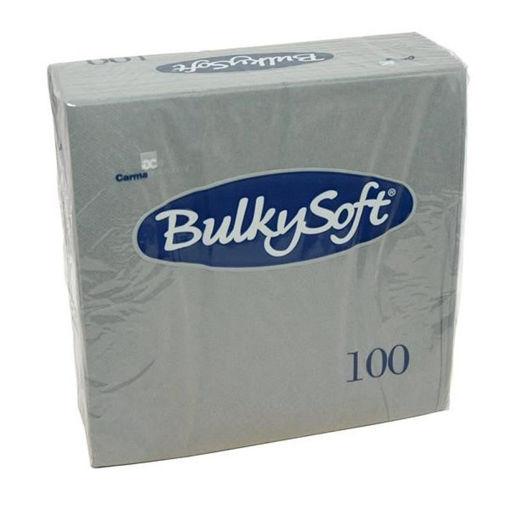 Bulkysoft Servet 2lgs 40x40 cm 1/4 vouw 2000 stuks Grijs