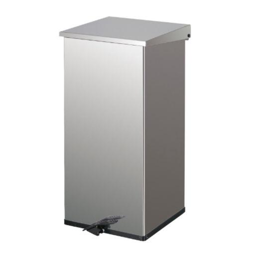 Afvalbak RVS Pedaal 110 ltr