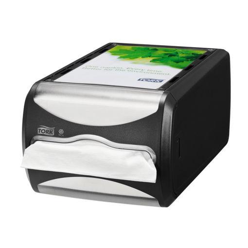 Afbeelding van Tork Xpressnap Counter Napkin Dispenser Zwart