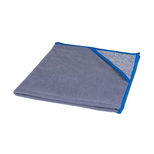 Allure Microvezeldoek met Scrubhoek 40x40 cm Blauw 10 stuks