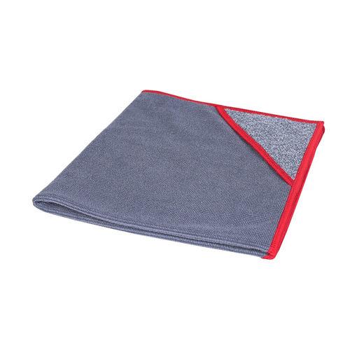 Allure Microvezeldoek met Scrubhoek 40x40 cm Rood 10 stuks