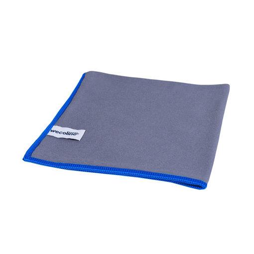 Allure Microvezeldoek Glas/Metaal 40x40 cm Blauw 10 stuks