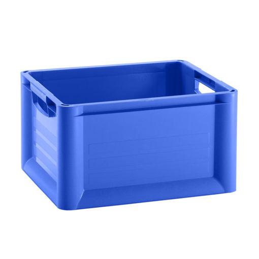Papierbak Kunststof Open 30 ltr Blauw