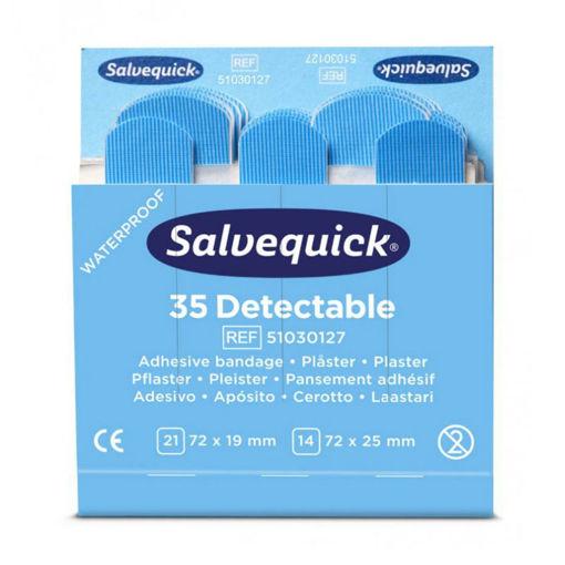 Salvequick Pleisters 6735 Detecteerbaar Blauw 6x35 stuks