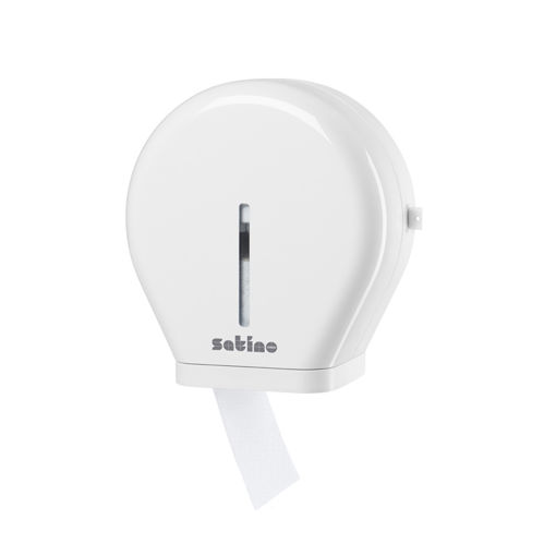 Afbeelding van Satino JT1 Toiletpapier Jumbo Mini Dispenser Wit